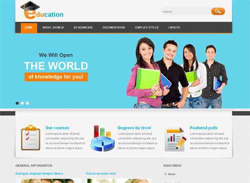 VT Education - шаблоны joomla учеба