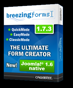 Компонент для создания собственных форм на сайте - Breezingforms v1.7.3