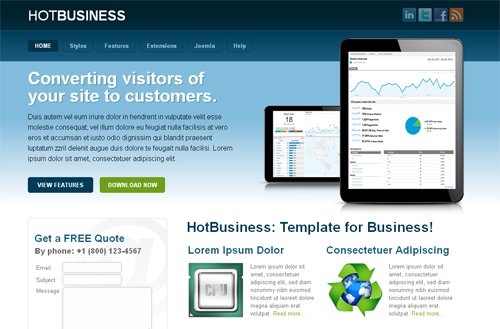 HOT Business - бизнес шаблоны joomla