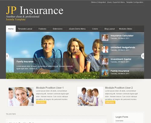 JoomlaPlates JP Insurance for Joomla 1.5 - 2.5