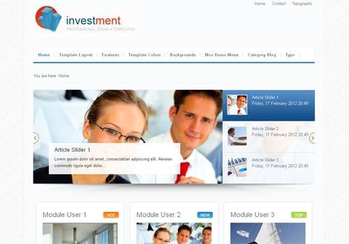 JoomlaPlates JP Investment for J1.5 & J2.5