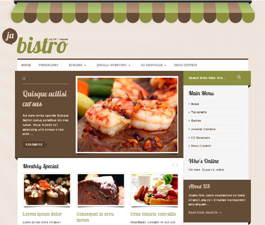 JA Bistro for Joomla 2.5