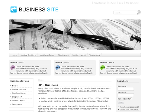JP Business - шаблоны joomla бизнес