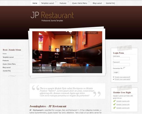 JoomlaPlates JP Restaurant for Joomla 1.5 - 2.5
