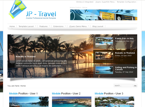 JP Travel - шаблоны joomla туризм