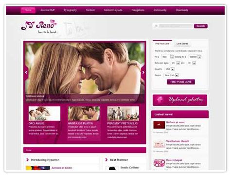шаблоны сайта знакомств joomla 2.5