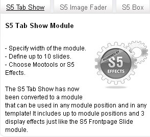 S5 Tab Show