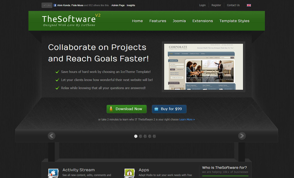 IT TheSoftware 2 - шаблон портала joomla